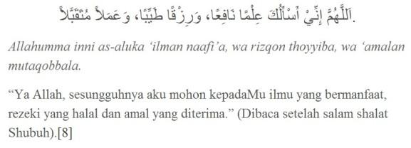 doa ba'da subuh